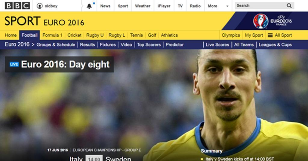 Euro 2016 Helps Bbc Sport To Record High News Broadcast