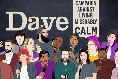 Dave comedy festival in an ad break