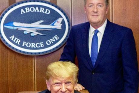 Piers Morgan and Donald Trump index