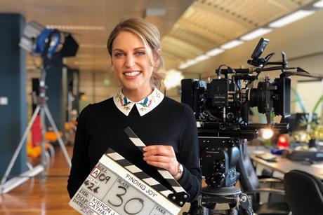 Amy Huberman on set of Finding Joy_2
