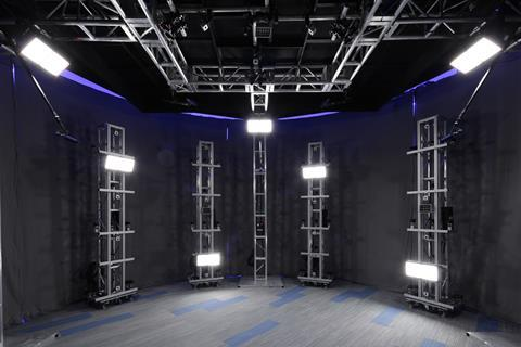 The capture rig at digital catapult and hammerhead's 'dimension', europe's most advanced volumetric and 3 d capture studio in london