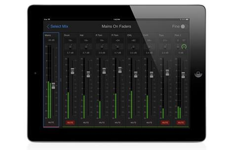 Avid venue onstage in tablet