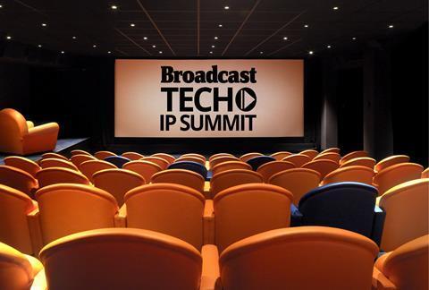 Broadcast tech ip summit on screen