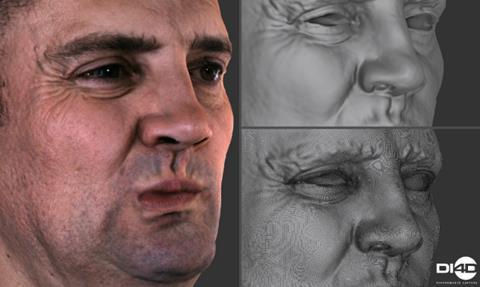 DI4K facial scanning