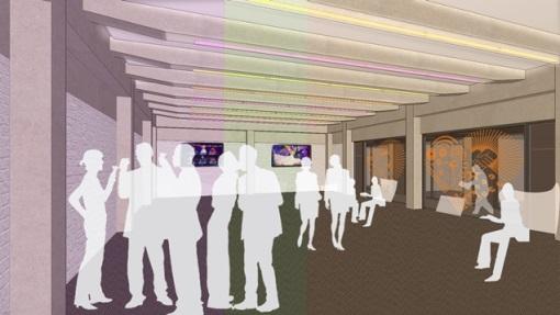 TVC redevelopment artists impression green room